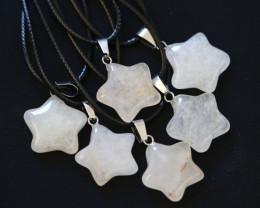 6 Stylish Crystal Pentagram Pendants AHA 1618