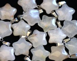6 Stylish Crystal Pentagram Pendants  AHA 1619