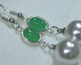 21.80 cts Quartz and Imitation Pearl Earrings RJA-1676   Rarejewelry