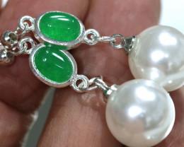 21.80 cts Quartz and Imitation Pearl Earrings  RJA-1678   Rarejewelry