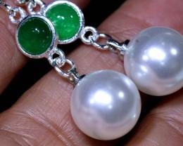 21.80 cts Quartz and Imitation Pearl Earrings  RJA-1679   Rarejewelry