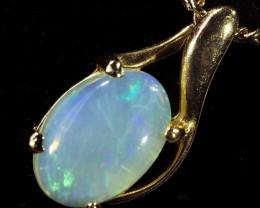 0.5Cts Crystal Opal Pendant 18k Gold  CF1513