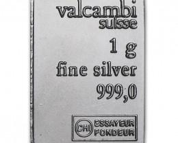10 Gram Secondary Europen 99.9% pure silver Bar 99.9% pure silver Bar