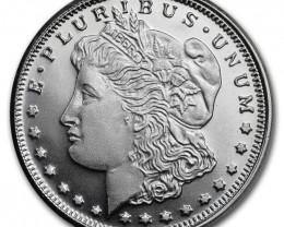 1/4 Ounce Morgan Dollar Design 99.9% pure silver Round