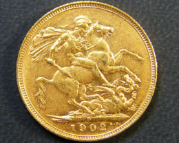 GOLD SOVEREIGN PERTH MINT 1902 CO3