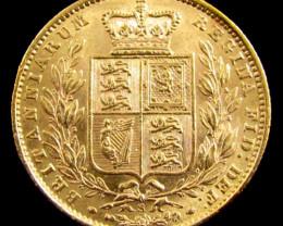 GOLD COIN SOVERIGN 1871 SYD SHIELD WW INCLUSIVE CO 830