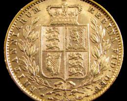 GOLD COIN SOVERIGN 1877 SYDNEY SHIELD CO 827