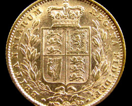 GOLD COIN SOVERIGN 1884 SYDNEY CO 824