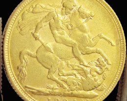 S1904 Full Gold Sovereign EDWARD CO2315
