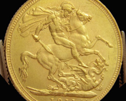 S 1911 Full Gold Sovereign GEORGIVS V CO2317