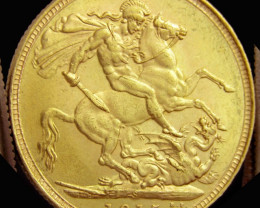 S 1915 Full Gold Sovereign GEORCIVS V CO2318
