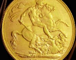 P1908 Full Gold Sovereign EDWARD VII CO2326