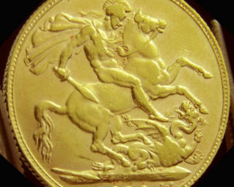 P 1910 Full Gold Sovereign EDWARD VII CO2327