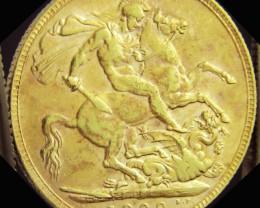 P1909 Full Gold Sovereign EDWARD VII CO2328