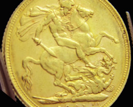 M1901 Full Gold Sovereign VICTORIA CO2332