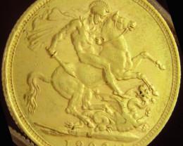 M1902 Full Gold Sovereign EDWARD VII CO2334