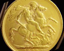 M1903 Full Gold Sovereign EDWARD VII CO2337