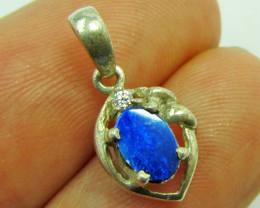 Doublet Opal set in Silver Pendant PL 822