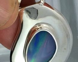 LARGE UNIQUE DOUBLET OPAL PENDANT ME1271