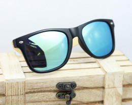 Square Vintage Wood Eyewear GREEN - Sunglasses - SUN 11