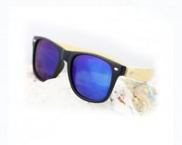 Square Vintage Wood Eyewear BLUE - Sunglasses - SUN 15