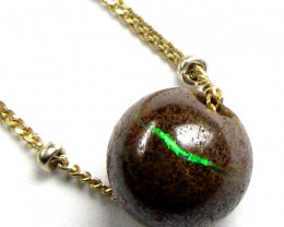 1.5 CTS 8X8 boulder opal 3.2 grams Italian Gold Chain SCO42