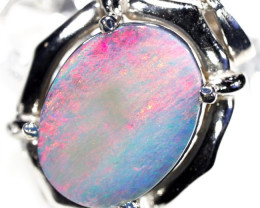 2.85 CTS RED FIREFLASH SOLID BLACK OPAL GOLD PENDANT SCO138