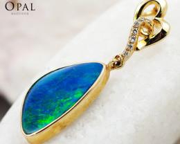 Gold Opal Pendants