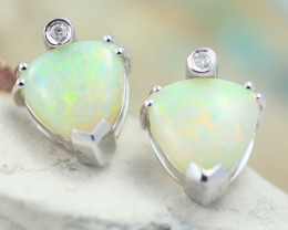 2.8 CTS 14k Heart Shape Opal Earrings OPJ 2300