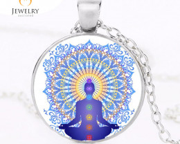 Om  7 Chakra Reiki Healing Buddha Yoga Meditation Pendant OPJ 2562