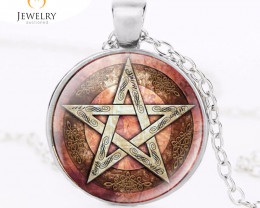 Pentagram Esoteric  Pendant for M or F OPJ 2574