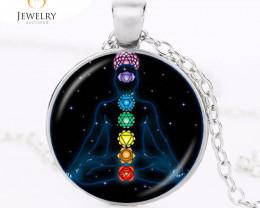 Chakra Reiki Healing Necklace Buddha Yoga Meditation Spiritual OPJ2612