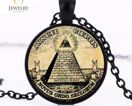 symbol masonic illuminati antique print Pendant OPJ2625