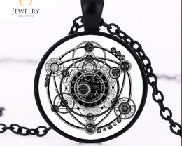 Sigil Magic Witchcraft Pendant Choker OPJ2642