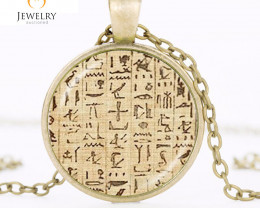 Ancient Egyptian Hieroglyphics Pendant OPJ 2613