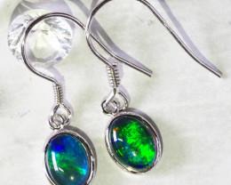 Cute Triplet Opal Silver Earrings WS596