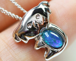 6.6 CTS Cute Triplet opal in silver Pendant BU1458