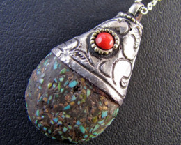Beautiful l Turquoise Tribal Design MJA 663