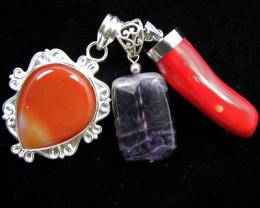 Three Gemstone pendants MJA 396