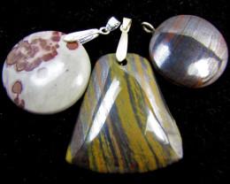 Three Gemstone pendants MJA 399