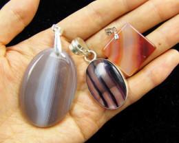 Three Gemstone pendants MJA 398