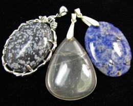 Three Jasper pendants MJA 386