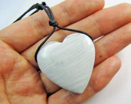 90 CTS Jasper Heart Gemstone pendant - Necklace MJA 473