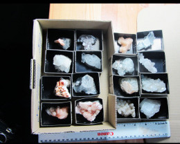 1 KILO 16 MIXED MINERAL/ CRYSTAL SPECIMENS IN TRAY MS 1952