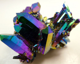 261 CTS COLLECTORS HUGE STUNNING TITANIUM TREATED CRYSTALS MS24