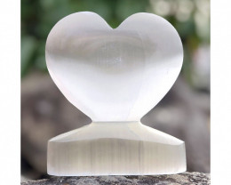 1 x Selenite Large Heart Shape