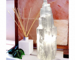 30cm Selenite Tower Lamp