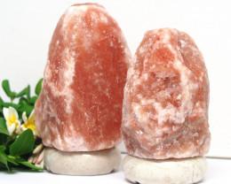 2 x 3-5kg Himalayan Salt Lamp Pack – Marble Base