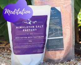 Meditation Bath Salt 700g with 1kg Himalayan Bath Salt