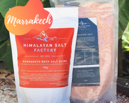Marrakech Bath Salt 700g with 1kg Himalayan Bath Salt